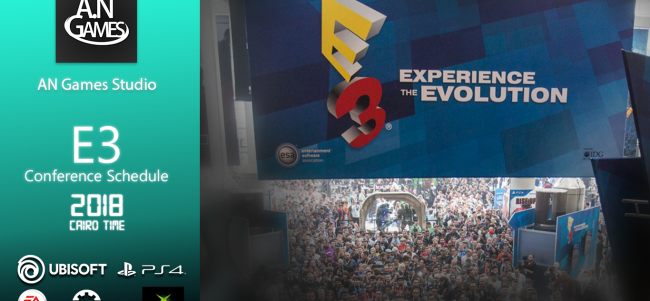 E3 2018 local schedule in Cairo time GMT+2